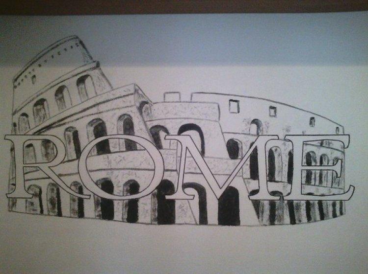 Disegno murale Colosseo